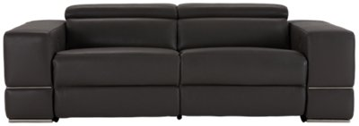 grey power reclining sofa simmons sleeper sofas dante gray leather