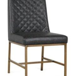 Black Bonded Leather Chair Crazy Creek Original Reviews City Furniture Sierra Side