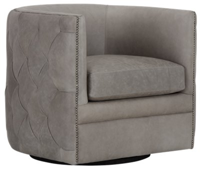 accent chair swivel balance ball desk reviews city furniture palazzo gray leather