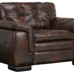Dark Brown Leather Chair Orange Ghost Trevor Medium
