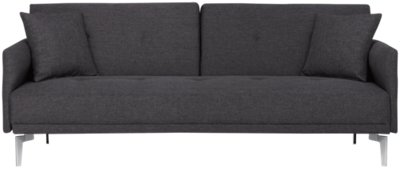 dark gray chair rocking pad amani sofa futon living room sofas and couches