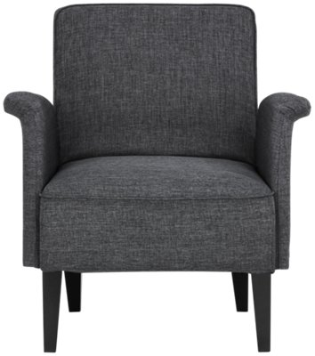 dark gray chair ivory dining room covers nigel accent