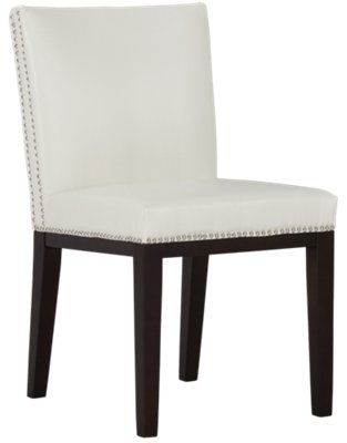 White Upholstered Chair City Furniture Madero White Upholstered Side Chair