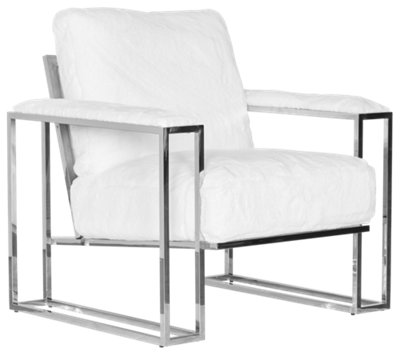 White Upholstered Chair State Street White Upholstered Accent Chair