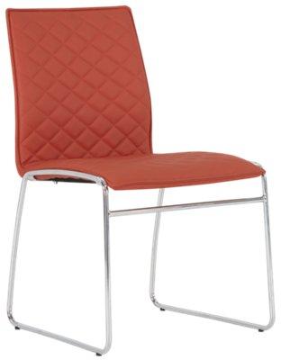orange side chair ball with arms skyline metal