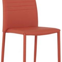 Orange Upholstered Chair Ice Cream Sandwich Skyline Side