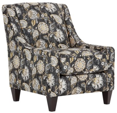 Yellow Floral Accent Chair