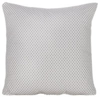 Dash Gray Fabric Square Accent Pillow