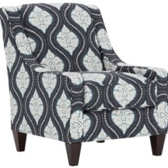 Blue Pattern Accent Chair Converts To Bed Canada Amuse Fabric Kavali Dark