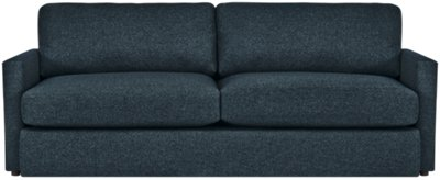 blue fabric recliner sofa starship power columbus bed by empire