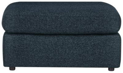 City Furniture: Noah Dark Blue Fabric Cocktail Ottoman