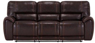dark brown microfiber sofa pillow top mattress for bed city furniture bailey reclining