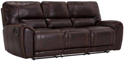 dark brown microfiber sofa transitional sectional sleeper city furniture bailey reclining