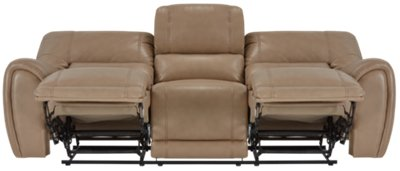 taupe color leather sofa average cost of a bailey microfiber reclining