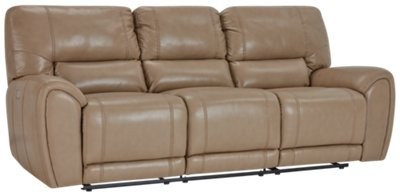 taupe color leather sofa cheap grey sofas uk bailey microfiber power reclining