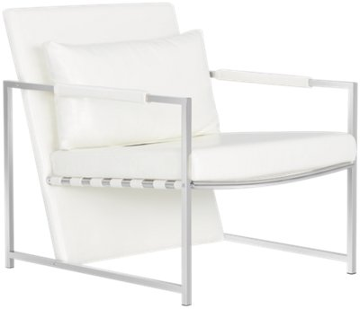 White Upholstered Chair Russell White Upholstered Accent Chair