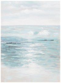 Seashore Light Blue Canvas Wall Art