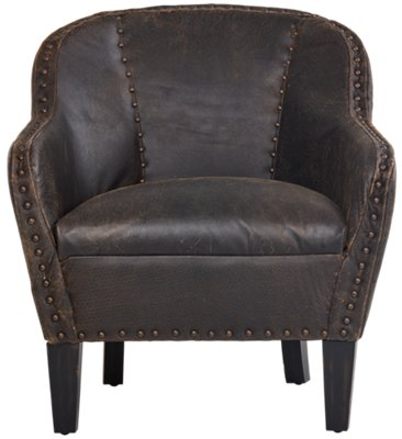 leather accent chairs iron dining room city furniture home accents decor chaises preserve brown chair