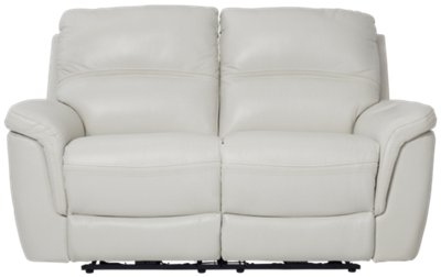 light gray leather reclining sofa new style set 2018 bryson power loveseat