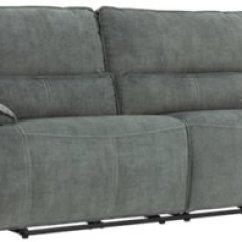Gray Microfiber Power Reclining Sofa Loft Sofas Uk Jesse Dark