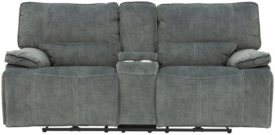 gray microfiber power reclining sofa aus paletten selbst bauen city furniture jesse dark