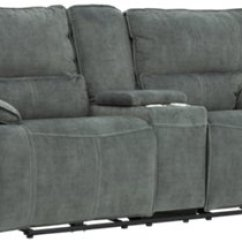 Gray Microfiber Power Reclining Sofa Make Wingback Slipcovers City Furniture Jesse Dark