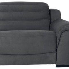 Gray Microfiber Power Reclining Sofa Brand Name Sofas City Furniture Sentinel Dark Left Bumper