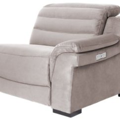 Gray Microfiber Power Reclining Sofa Lounger With Pull Out Bed City Furniture Sentinel Dark Left Bumper