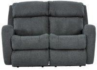 City Furniture: Finn Gray Fabric Power Reclining Loveseat