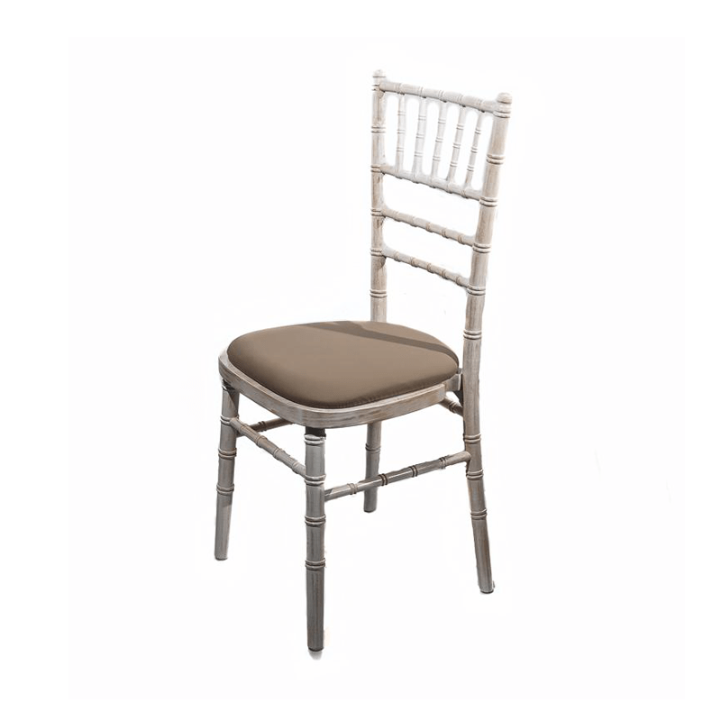 limewash chiavari chairs hire white folding chair covers banqueting with mushroom seat pad