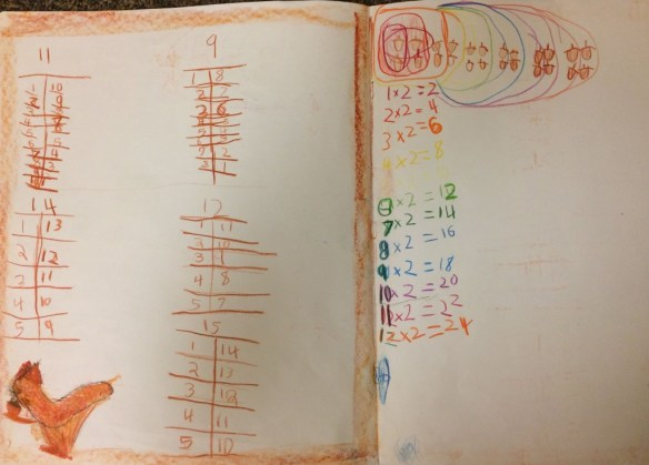 Squirrel Nutkin regroups numbers and then moves into times tables