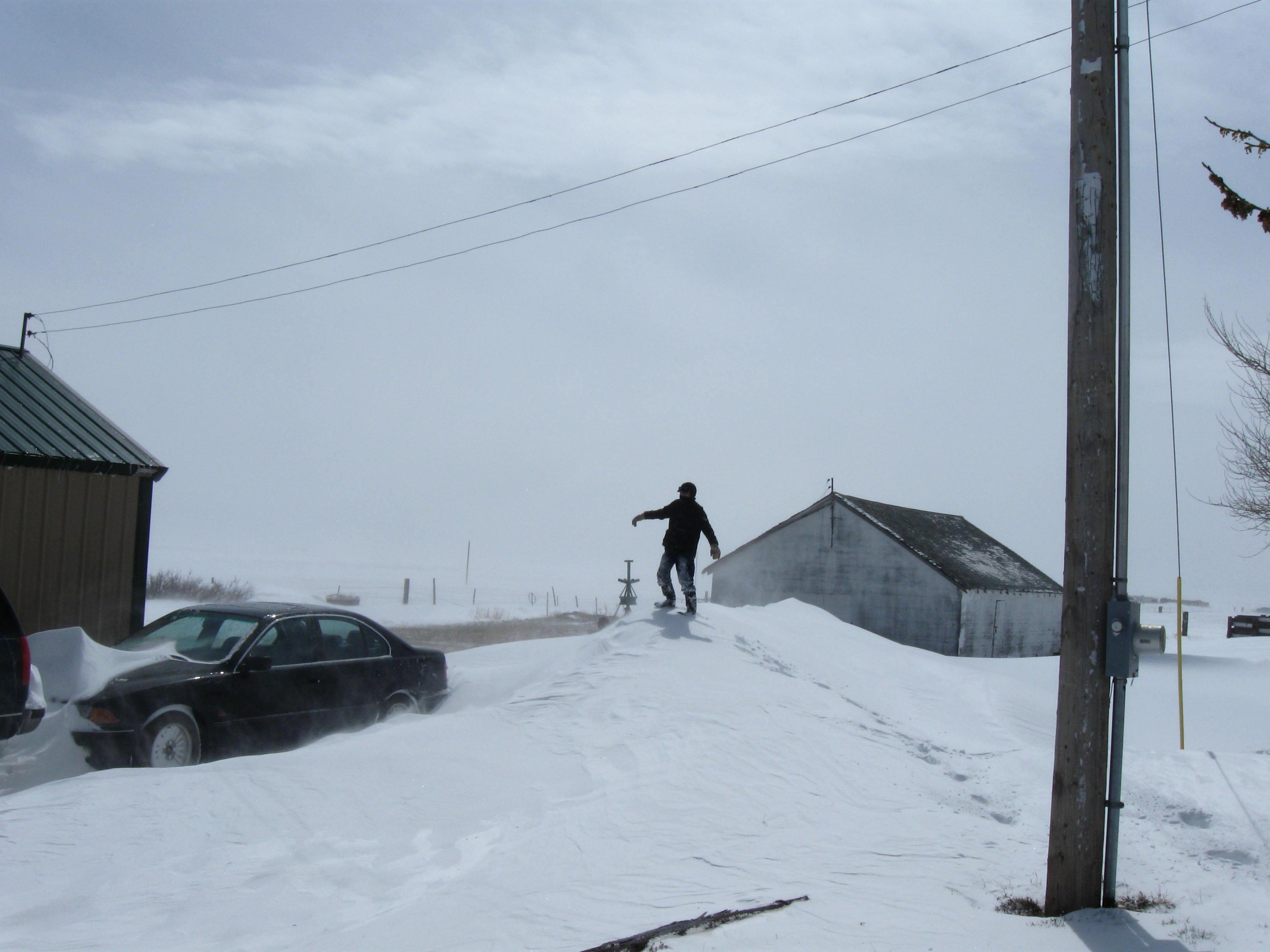 Thomas atop a drift