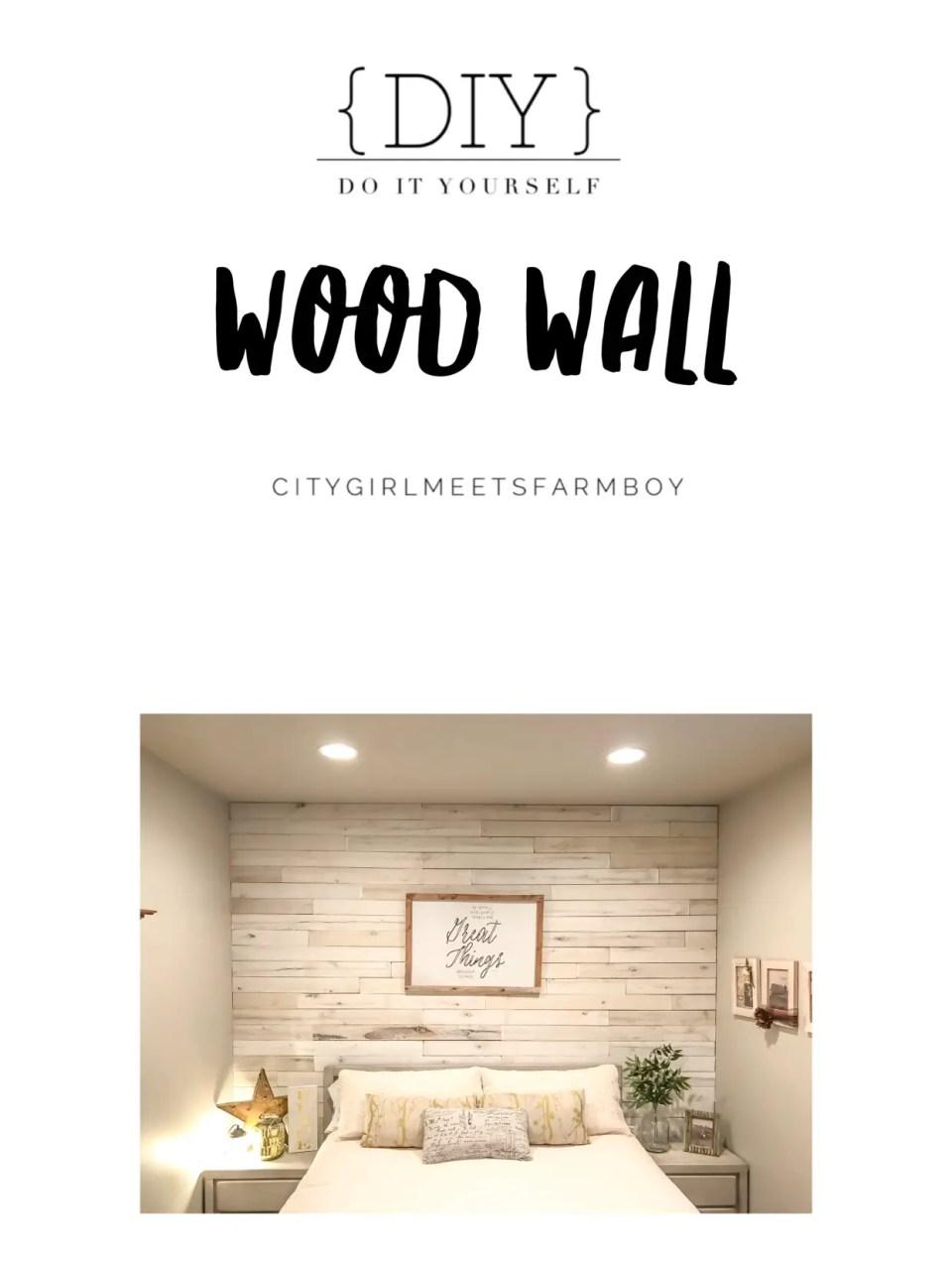 Wood Wall Tutorial
