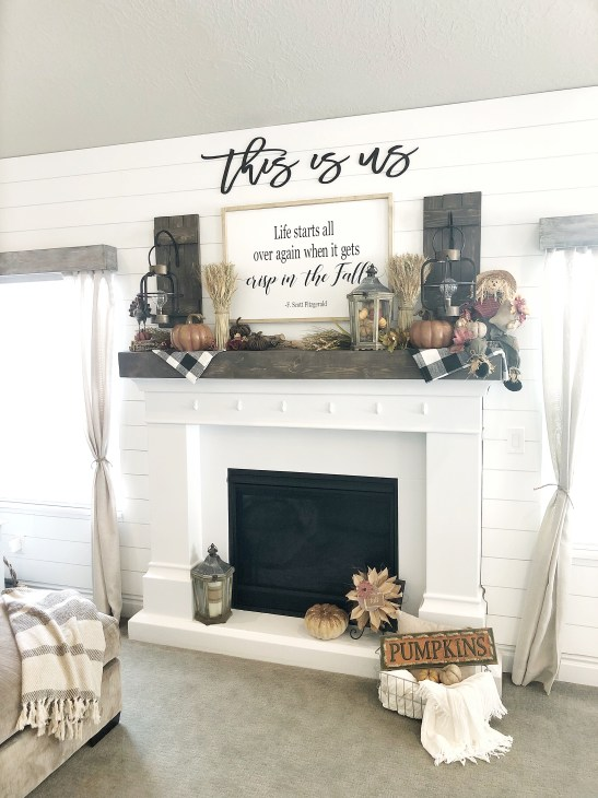 Simple Fall Mantel Decor Citygirl Meets Farmboy