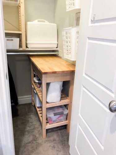 Closet Organization and Renovation, Sewing Cart from Ikea