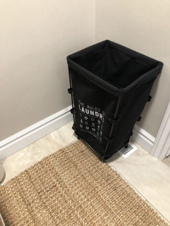 Kirklands Laundry Room Decorations and Laundry Hamper