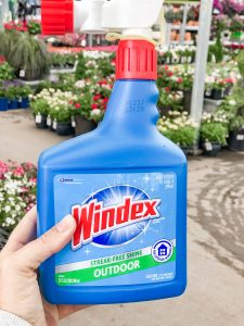 Cleaning Windows with Windex at Home Depot