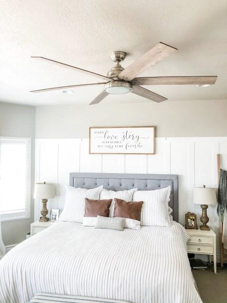Master Bedroom Hunter Ceiling Fan Installation Process