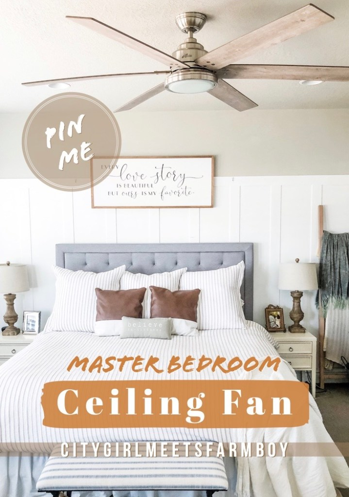 Master Bedroom Fan Installation with Hunter Fans