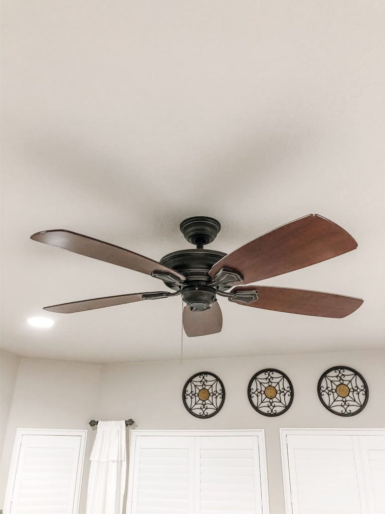 Ceiling Fan in Master Bedroom