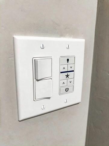 Hunter Ceiling Fan Light Switch for Warrant 70 Industrial Fan