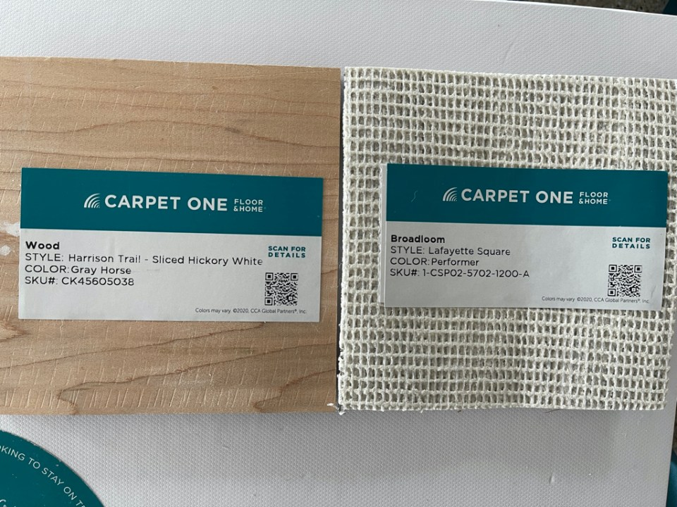 Flooring Samples from Carpet ONE