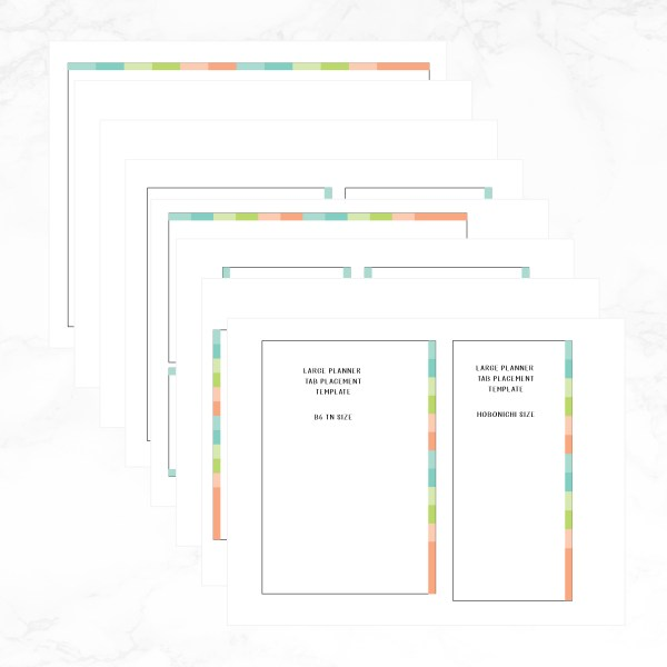 Large Planner Tab placement template