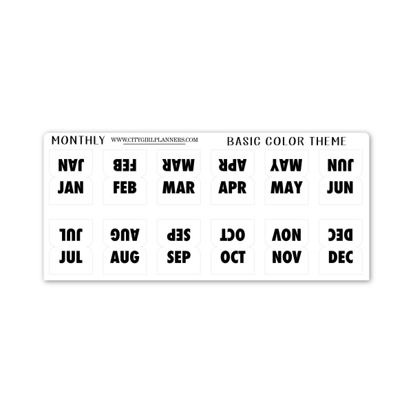 Back to Basics Mini Planner Tabs