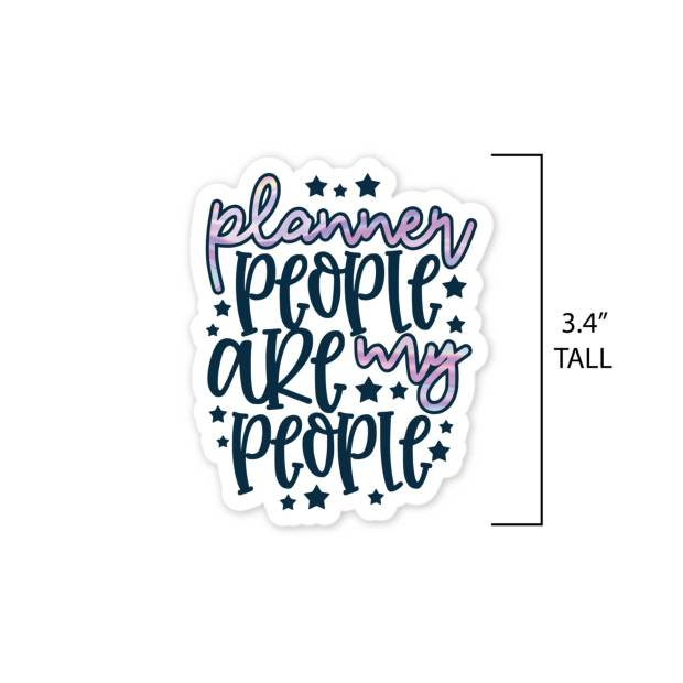 Planner People are My People die-cut