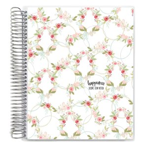 Happiness Blooms spiral coil planner