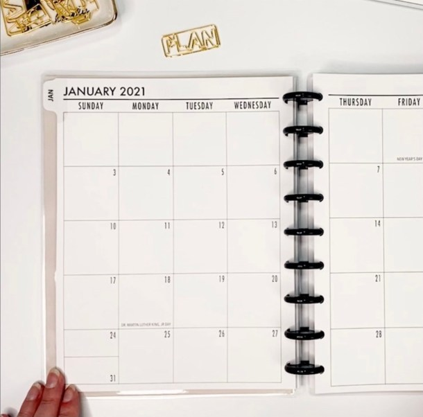 Metro Planner Classic size Monthly
