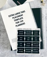 Extra large planner tabs with placement template