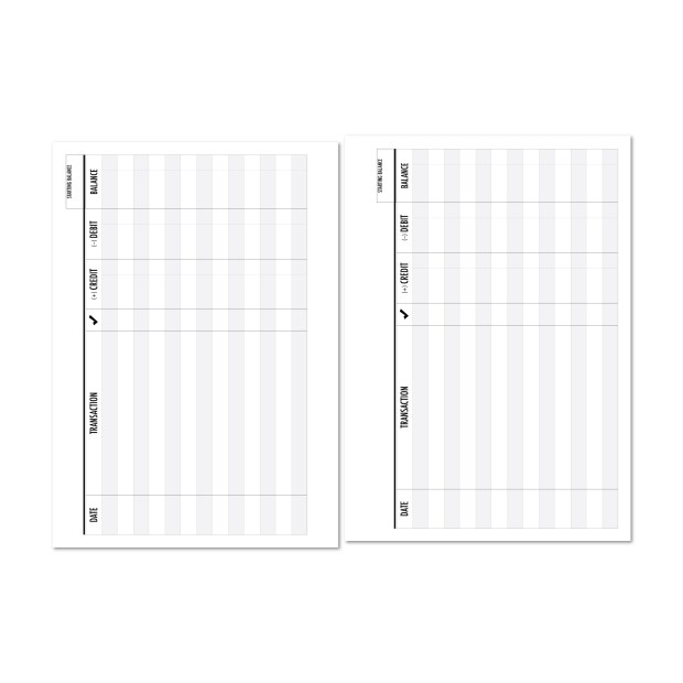 checkbook registers for planners