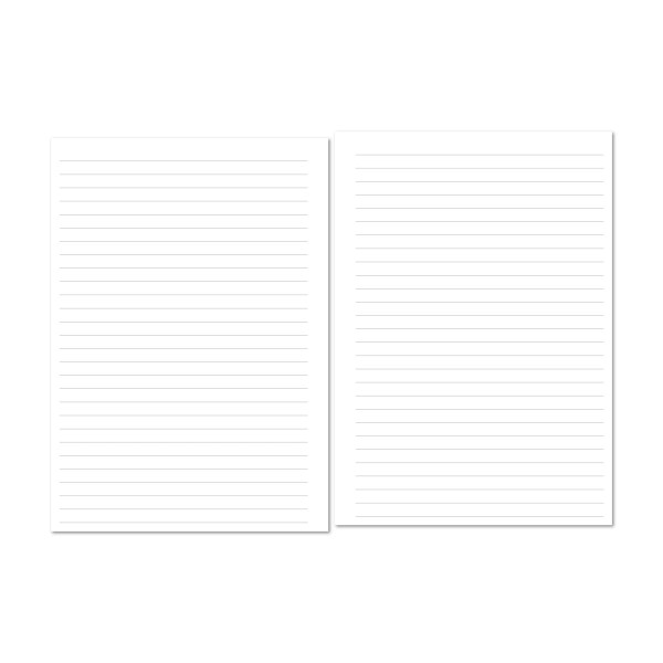 Plain Lined paper